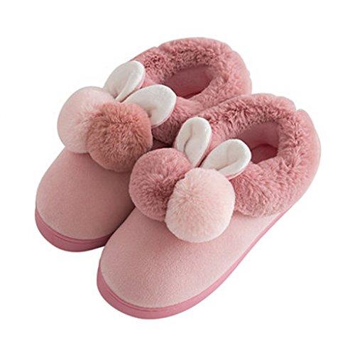 Épais Femmes Pattern Pur Hiver Mignon Chaussures Fond Pantoufles Chaud Chaussons De Tout 3 Maison Coton 0gaOx