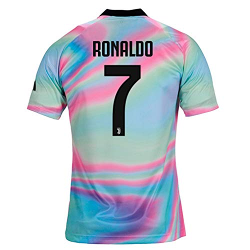 a6aaeb7bd5b ZhouDress Juventus 2018 2019 Season  7 Ronaldo Mens Commemorative Limited  Edition Soccer Jersey Size S Rainbow