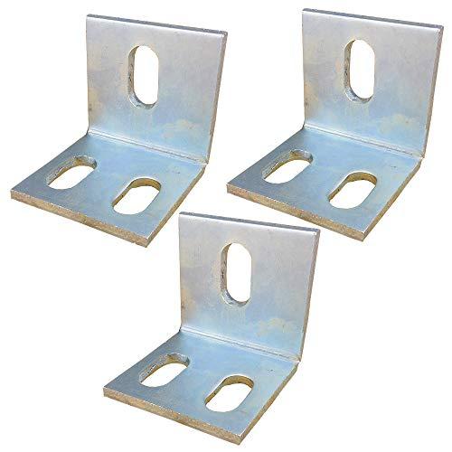 Brace esquina derecha galvanizado Soporte de angulo fijo soldadura del hierro de angulo de esquina tirantes Conjunto derecho soporte de estante soporte con los tornillos de 65,7 x 67 mm - 3 piezas