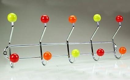 Pomelli Appendiabiti Colorati.Appendino Attaccapanni Appendiabiti Da Parete In Metallo Cromato