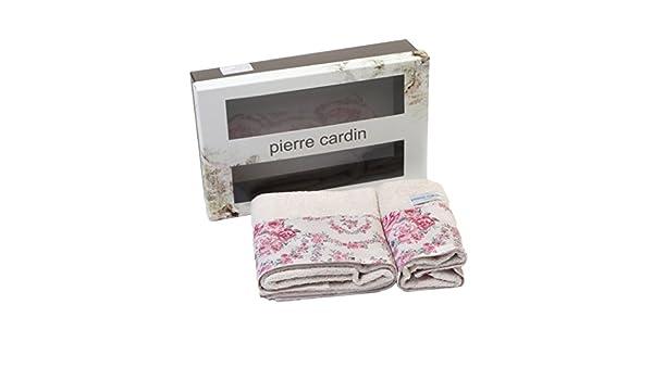 Pierre Cardin Juego Toallas baño Lilac Rose 1 + 1 Beige: Amazon.es: Hogar