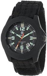 Smith & Wesson Men's SWW-12T-R Soldier Tritium H3 Black Nylon Strap Watch