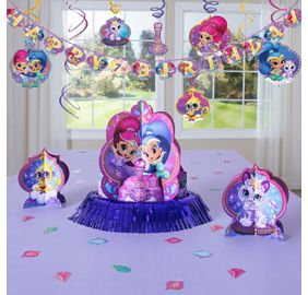 Amazon Shimmer Shine Room Decorations 12 Swirls Table