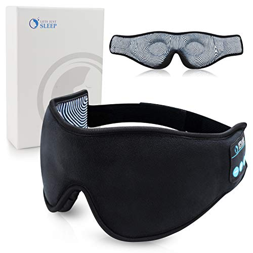 Sleep Headphones – Wireless Bluetooth 5.0 Sleep Mask – by Lets Just Sleep – The Noise Cancelling 3D Eye Mask – One Size Fits All