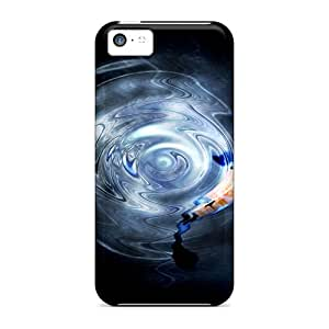 Excellent Iphone 5c Case Tpu Cover Back Skin Protector Spot Lit Koi Pond