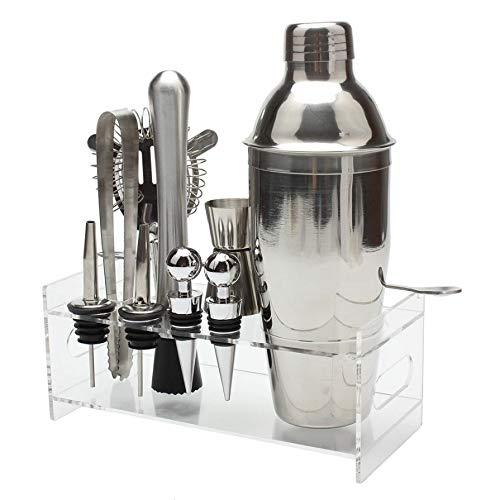 Muddler Cocktails Useful 10Pcs Cocktail Shaker Set With Acrylic Base Maker Mixer Spirits Muddler Registered