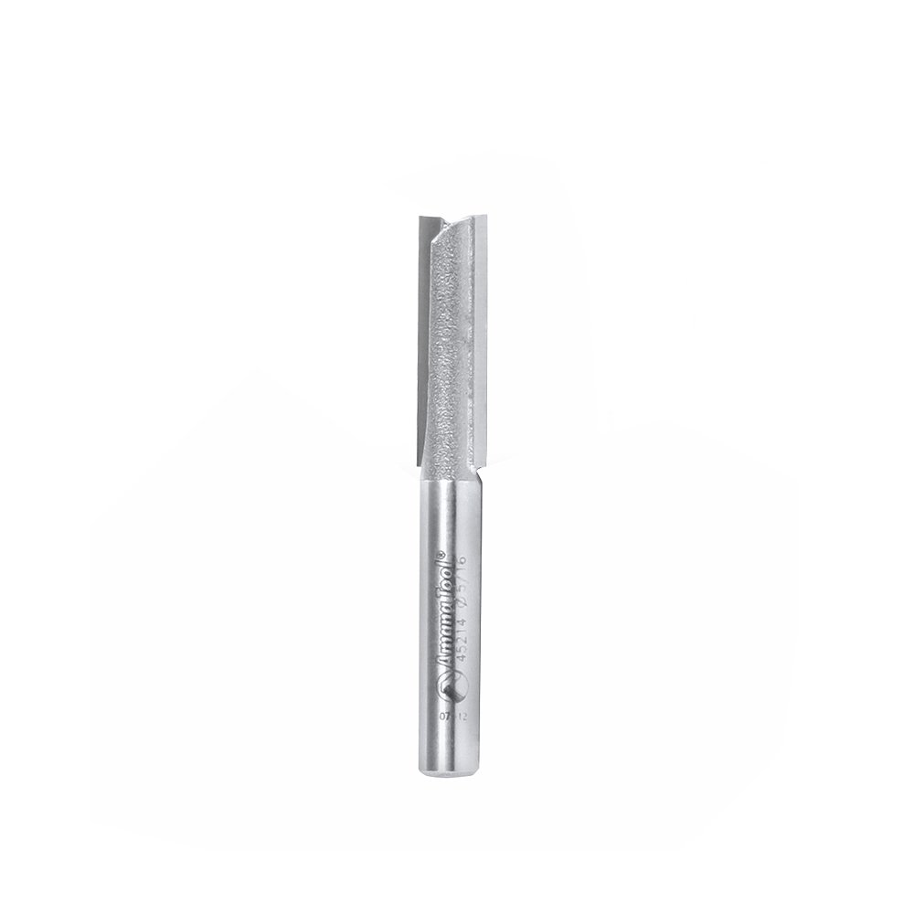 Amana Tool 45214 Carbide Tipped Straight Plunge High Production 5//16 D x 1 CH x 1//4 SHK x 2-1//4 Inch Long Router Bit
