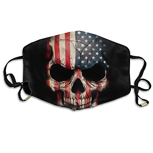 Zhenyun American Honourable Flag Skull Anti Dust Face Mask,Reusable Warm Windproof Mouth Mask