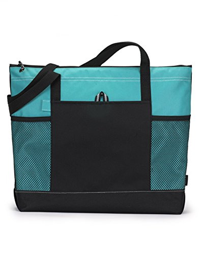 Bodek And Rhodes 80279480 1100 Gemline Select Zippered Tote Turquoise - One from Gemline