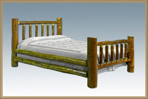 Montana Woodworks Log King Bed Glacier Country Collection