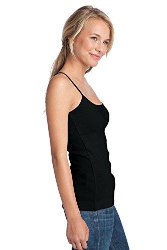 District - Camiseta de tirantes - para mujer negro azabache