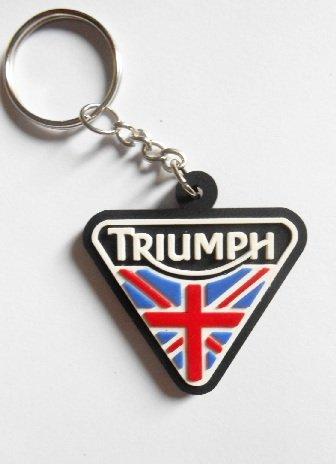 Llaveros - Triumph, UK, para motocicletas, motos, coches, llaves, goma de caucho y anillo, perfecto para bolsos, maletines o carteras, ideal para ...
