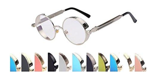 Steampunk Fashion Sunglasses NYC Clear UV 400 - Sunglasses Steampunk