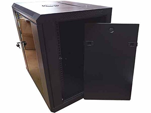 19 Quot 12u Wall Mount Network Cabinet Enclosure Black Buy
