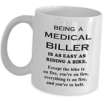 Amazon.com: Medical Biller Mug Gifts - Riding A Bike On