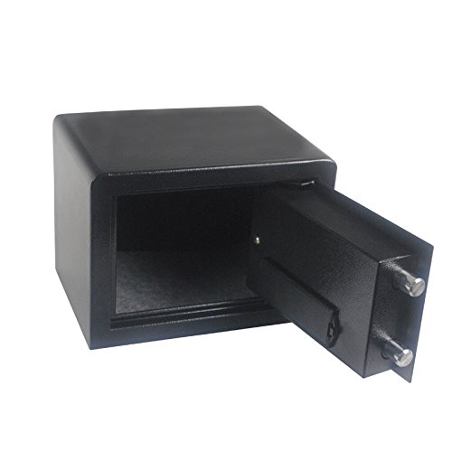 QHYT Home Use Mini Small Electric Password Security Safe Box Anti-Theft Power by Battery Cube Black