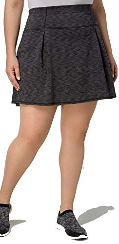 Ideology Women's Spaced-Dyed Skort Black Space Dye XXL by Ideology