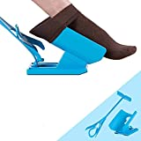 Kingfansion Flexible Easy On / Easy Off Sock Aid Kit - Pull On/ Flexible Deluxe Sock Aids for Disabled