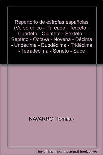 Amazon.com: Repertorio de estrofas españolas (Verso único ...