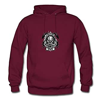Creativeclothing Women Skull Designed Sweatshirts (x-large,burgundy)