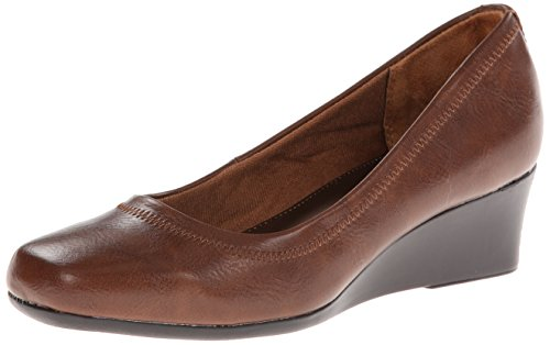 Lifestride Womens Groovy Wedge Pump Darktan