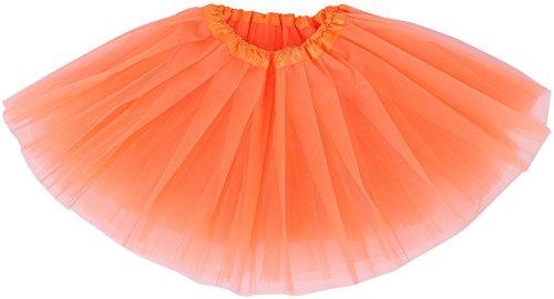 Simplicity Kid Cute Layer Tulle Tutu Skirt Princess Ballet Dance Skirt, Orange