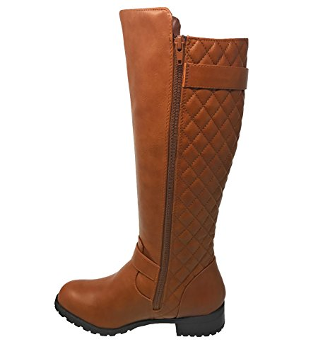 Tan Link Riding Boots Zipper T Mango 21 Accent Forever Quilted Women's dwF4nPdzq