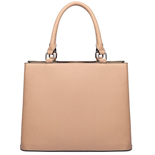 Handbag with Ladies Tote Bags Strap Leather Miss Handle Top Lulu Casual Shoulder Design for Nude Women 4z5Fq
