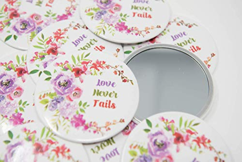 Convention Gifts - 10 POCKET MIRRORS - Love Never Fails International Convention of Jehovah's Witnesses 2019, Convention Gifts, Convention souvenirs, Custom made