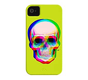 3D Skull iPhone 4/4s Bitter lemon Barely There Phone Case - Design By Humans