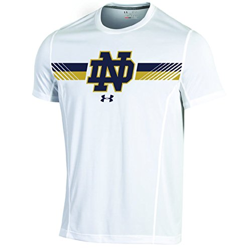 Notre Dame Gear (NCAA Notre Dame Fighting Irish Men's Sideline Short sleeve Tee, Large, White)
