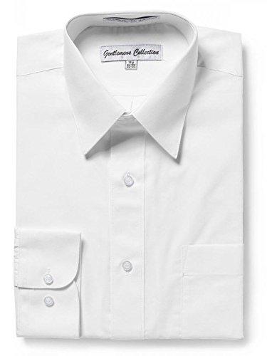 Gentlemens Collection Mens Regular Fit Long Sleeve Solid Dress Shirt