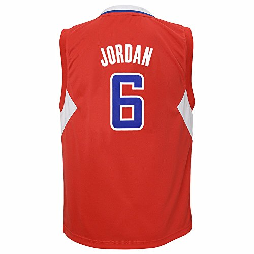 Deandre Jordan Los Angeles Clippers NBA Adidas Boys Red Official Road Replica Basketball Jersey (7)