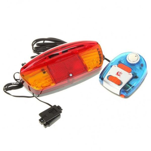 9 LED Turning Signal Lights with Electronic Horn for Bicycles (2AA). (Xotic Colours)