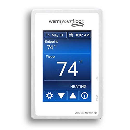 SunTouch WarmWire (120V) Floor Heat Kit, 70 sq ft cable adaptable to any layout and adds luxury and comfort to any room under tile/stone includes user-friendly Command Touch Programmable Thermostat by SunTouch (Image #2)