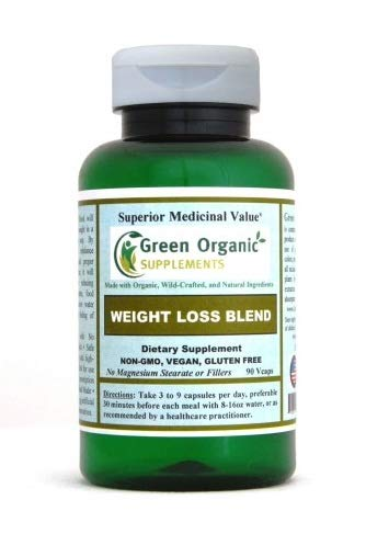 Green Organic Supplements' Weight Loss Blend Supplement 90 Capsules with Gymnema Sylvestre, Organic Dandelion, Mustard Seed, for Natural Weight Loss, Food Craving Control & Boost Metabolism ()