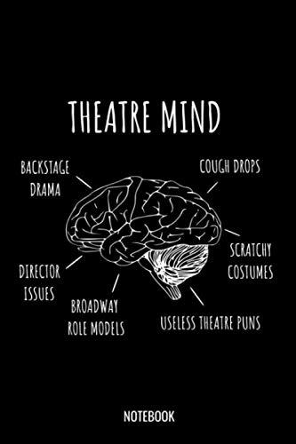 Theatre Mind Notebook: Liniertes Notizbuch A5 - Theater Musical Broadway Schauspieler Drama Geschenk (Vatertag Kanada)