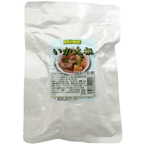 Japanese Side Dishes Squids Stew with Radish 200g X 3 Retort-pouch Packs (1 Years Long Term Storage Survival Foods / Emergency Foods)