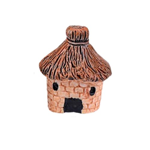 YRD TECH Mini Dollhouse Stone House Cottage Resin Decorations For Home And Garden DIY Mini Craft Cottage Landscape Decoration (C) (Disney Rear View Mirror Ornament)