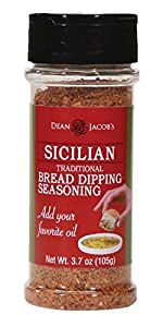 (8153) Dean Jacob's Sicilian Bread Dipping Seasoning ~ 3.7 oz Shaker Jar