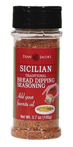 (8153) Dean Jacob's Sicilian Bread Dipping Seasoning ~ 3.7 oz Shaker Jar