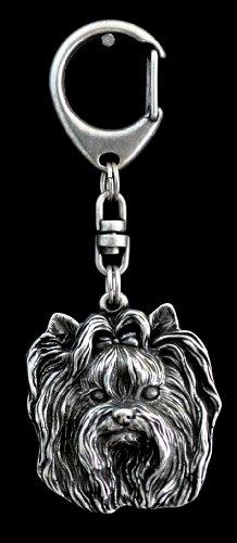 Yorkshire Terrier, Yorkie, Silver Hallmark 925, Silver Dog Keyring, Keychain, Limited Edition, Artdog by Art Dog Ltd.