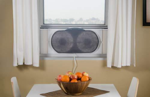 Comfort Zone Twin Window Fan with Remote