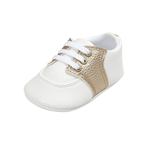 Fire Frog Baby Saddle Shoes for Boys Girl Infant Toddlers Lace-up Sneakers
