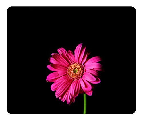 Gaming Pad Oblong Shaped Mat Design Hot Pink Gerber Daisy Natural Eco Rubber Durable Computer Desk Stationery Accessories Pads For Gift Support Wired Wireless or Bluetooth