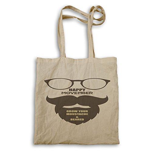 Happy Movember Wachsen Sie Ihren Schnurrbart Tragetasche u178r