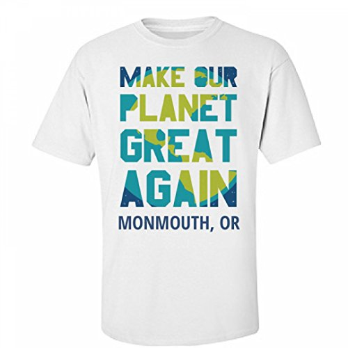 Make Our Planet Great Again Monmouth  Or  Unisex Fruit Of The Loom Midweight T Shirt