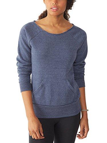 - Alternative Women's Maniac Eco Fleece Sweatshirt, True Navy, Large