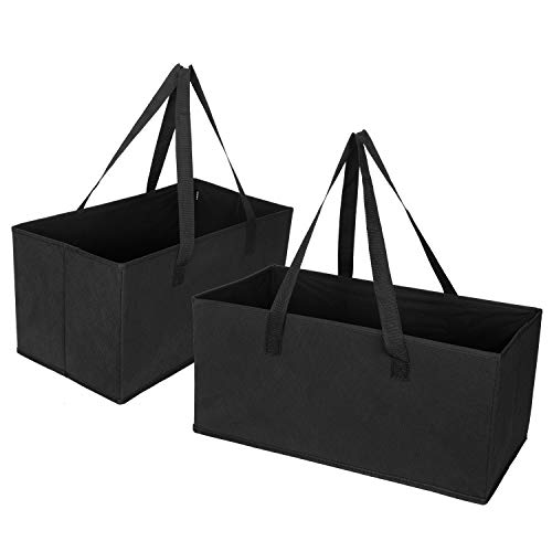 (VENO Reusable Grocery Shopping Bags – Trunk Size Extra Large Collapsible Boxes with Reinforced Bottoms, Made of Recycled Material (Pack of 2))