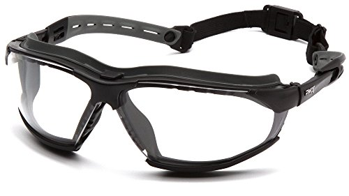 Pyramex Safety GB9410STM Isotope Safety Glasses, Black Frame, Clear H2MAX Anti-Fog - Glasses Frames Shop